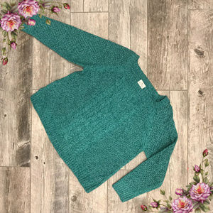 MAKE AN OFFER ;) Plus size teal knit sweater